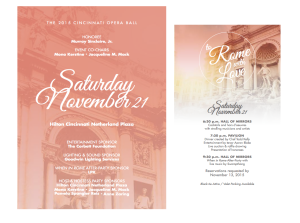 Opera Ball Invitation